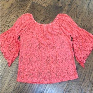 Bellamie coral lace shirt XL